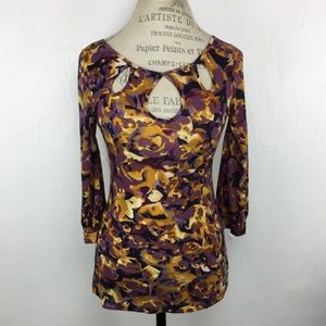 Anthropologie Floral 9-H15 STCL Postmark Blouse